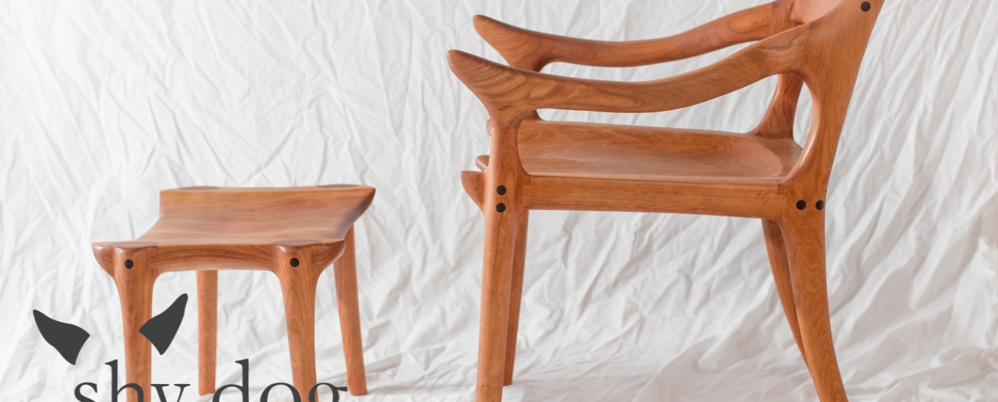 Maloof Inspired Sculpted Chair And Ottoman