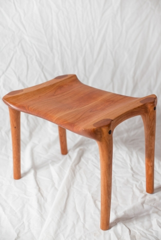 Maloof-inspired stool
