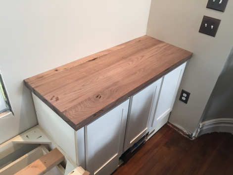 Dry fitting the counter before applying finish